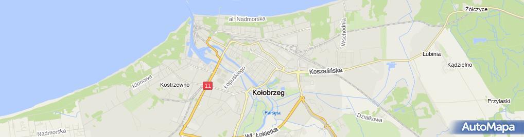 Zdjęcie satelitarne Kołobrzeg - urząd miasta