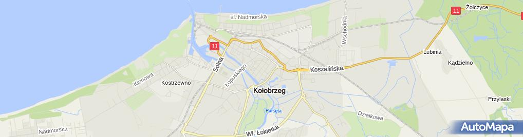 Zdjęcie satelitarne Kołobrzeg - zginęli w katastrofie