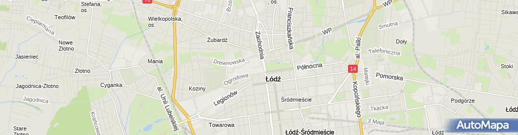 Zdjęcie satelitarne Łodź, Manufaktura pavilon