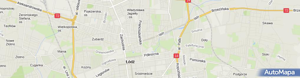 Zdjęcie satelitarne Łodź, Wojska Polskiego, modernizovaná tramvaj Konstal