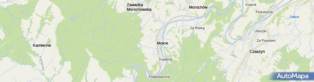 Zdjęcie satelitarne Mokre kladka