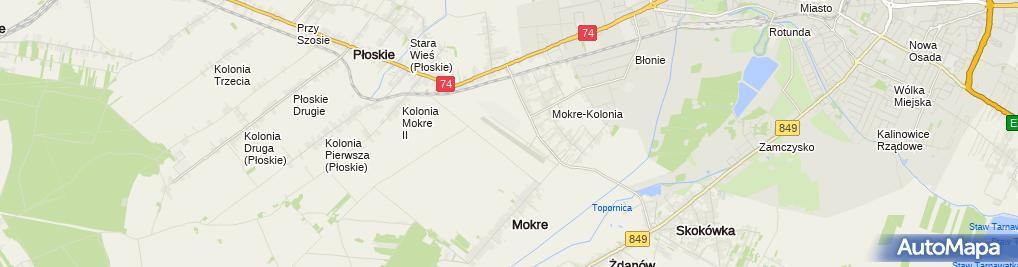 Zdjęcie satelitarne Mokre lotnisko2pl