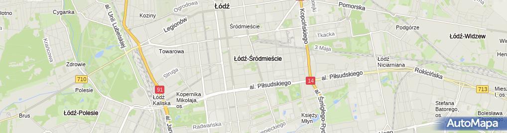 Zdjęcie satelitarne Muzeum Przyrodnicze Uniwersytetu Łódzkiego, Park Sienkiewicza, Łódź 02