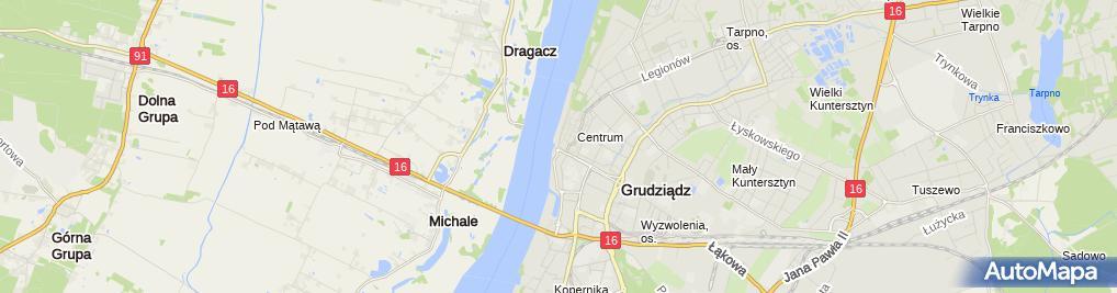 Zdjęcie satelitarne MuzeumGrudziadz2