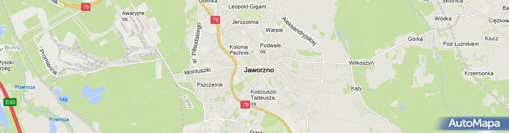 Zdjęcie satelitarne Palais in Jaworzno POL