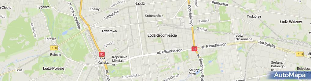 Zdjęcie satelitarne Park im Henryka Sienkiewicza in Łódź