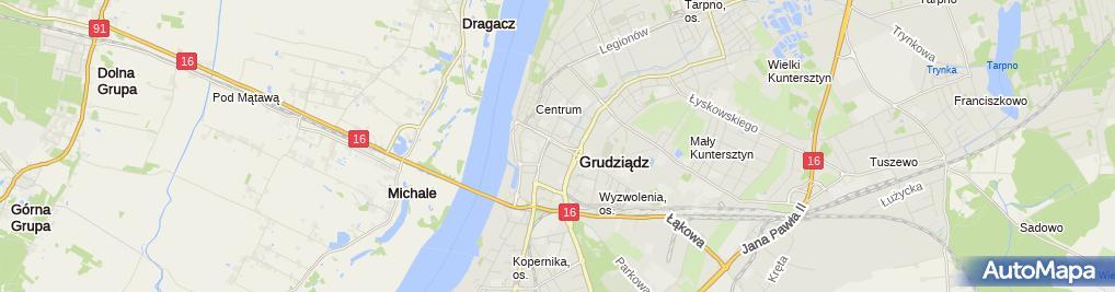 Zdjęcie satelitarne PileckiGrudziadz