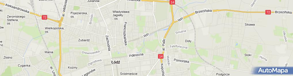 Zdjęcie satelitarne Plan Parku Ocalałych, Łódź