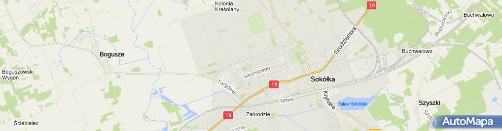 Zdjęcie satelitarne Podlaskie - Sokółka - Sokółka - Malmeda - Kirkut - v-SW