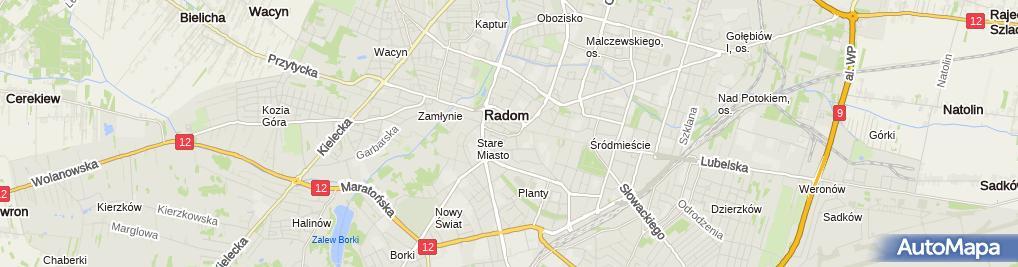 Zdjęcie satelitarne POL Radom castle Nihil novi