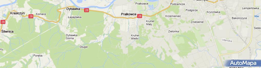 Zdjęcie satelitarne Poland Kruhel Wielki - wooden church