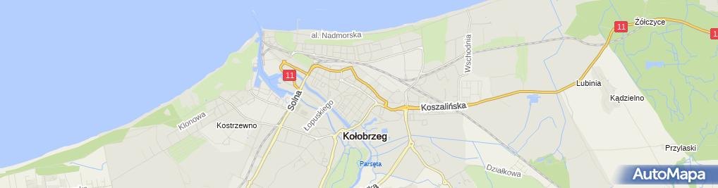 Zdjęcie satelitarne Port Kolobrzeg with James Cook 2009-05