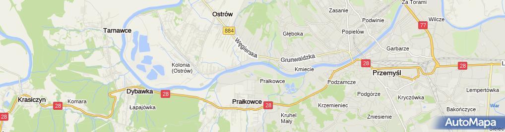 Zdjęcie satelitarne Prałkowce kościół 2