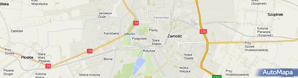 Zdjęcie satelitarne Renaissances houses in Zamość