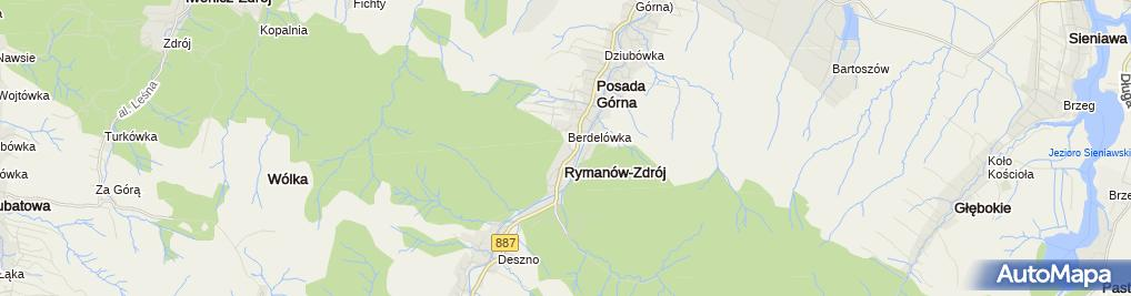 Zdjęcie satelitarne Rymanow-fontanna