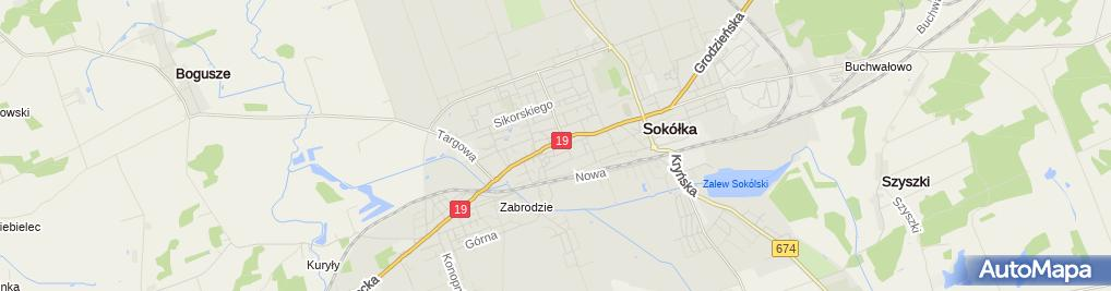 Zdjęcie satelitarne Sokółka - Orthodox church