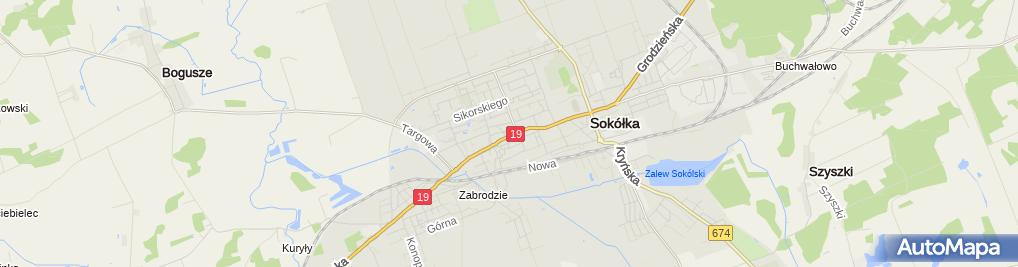Zdjęcie satelitarne Sokółka - rocznica konstytucji