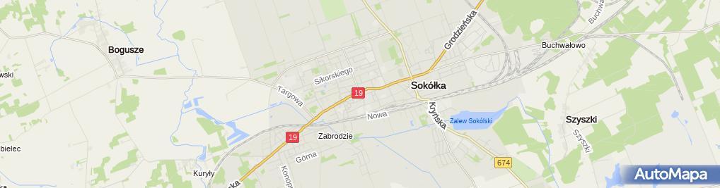 Zdjęcie satelitarne Sokółka - Town hall