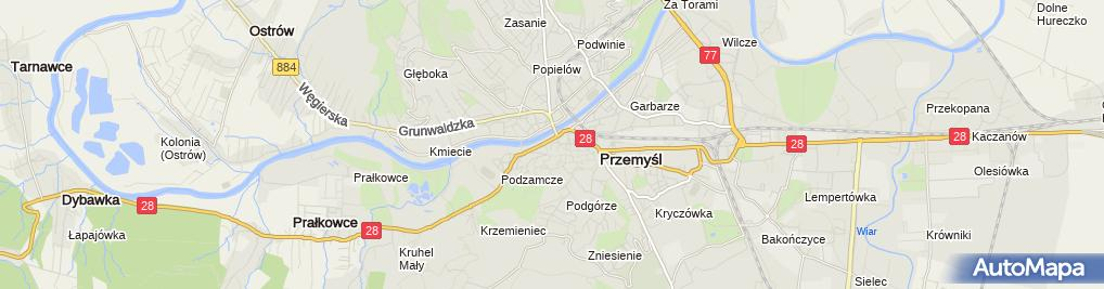 Zdjęcie satelitarne Stok narciarski w Przemyślu - Trasa nr 1