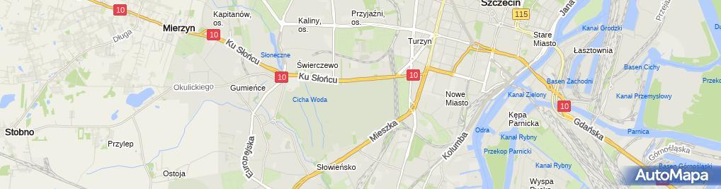 Zdjęcie satelitarne Szczecin Cmentarz Centralny Pomnik Tym ktorzy nie powrocili z morza 2