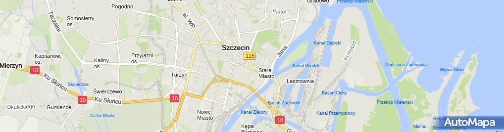 Zdjęcie satelitarne Szczecin kosciol piotra i pawla konsola 17