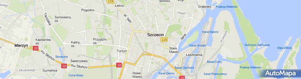 Zdjęcie satelitarne Szczecin Pomnik Wdziecznosci fragment