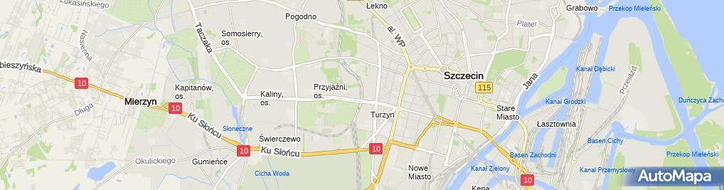 Zdjęcie satelitarne Szczecin Turzyn dworzec kolejowy b