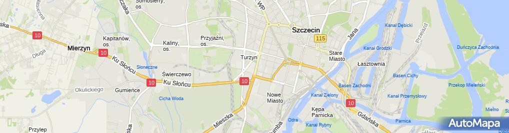 Zdjęcie satelitarne Szczecin Zachodniopomorski Uniwersytet Technologiczny 2