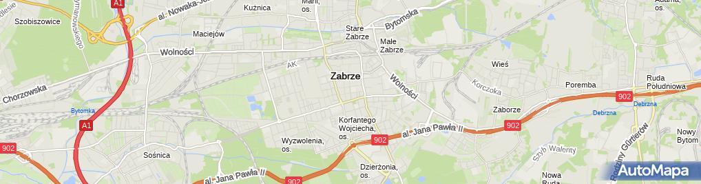 Zdjęcie satelitarne Szkoła Podstawowa nr 43 im. Leona Kruczkowskiego w Zabrzu (Nemo5576)