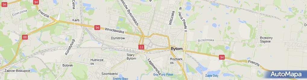 Zdjęcie satelitarne Tablica Korfanty Bytom
