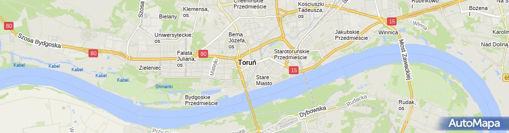 Zdjęcie satelitarne Torun barbakan chelminski makieta