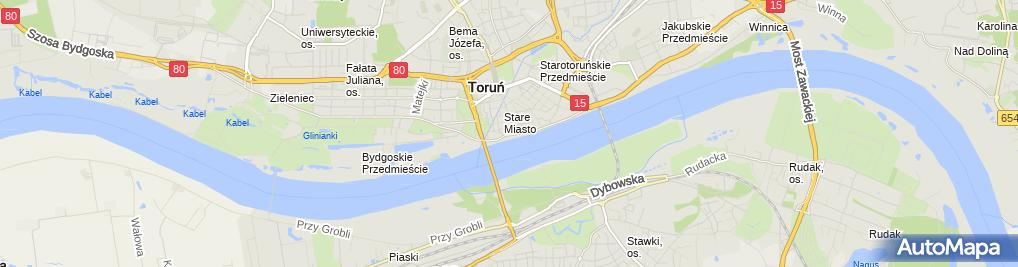 Zdjęcie satelitarne Torun baszta Golebnik
