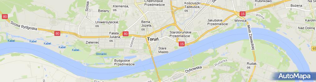 Zdjęcie satelitarne Torun baszta Koci Leb2