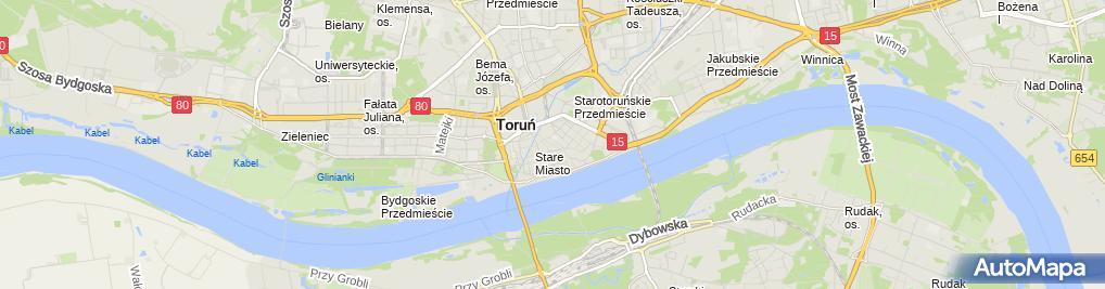 Zdjęcie satelitarne Torun baszta ul Podmurna 26