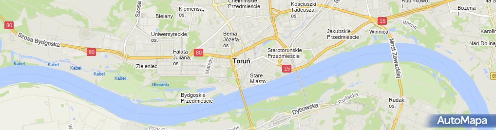 Zdjęcie satelitarne Torun baszty 25 i 27