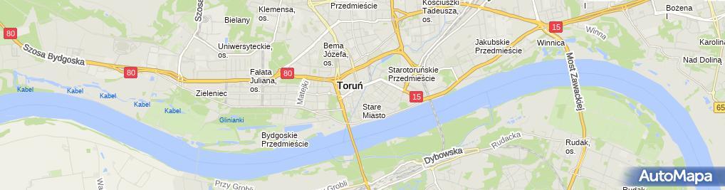 Zdjęcie satelitarne Torun Brama Chelminska od poludnia