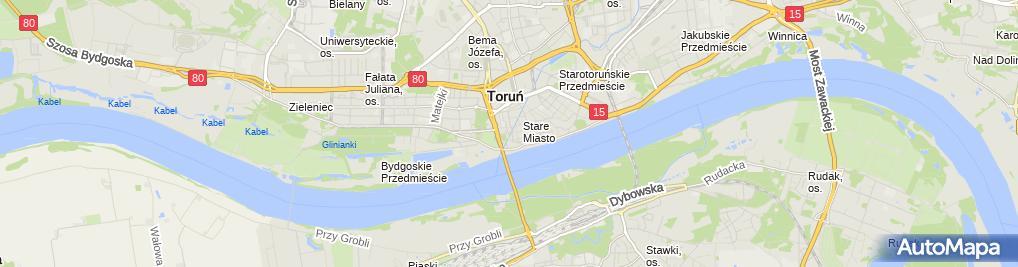 Zdjęcie satelitarne Torun Brama Starotorunska od wschodu