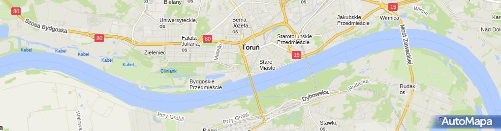 Zdjęcie satelitarne Torun Brama Starotorunska od zachodu