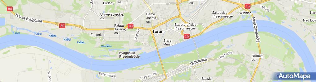 Zdjęcie satelitarne Toruń łuk Cezara