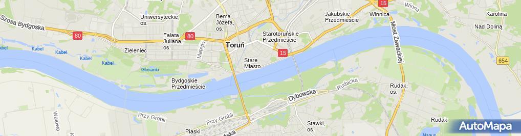 Zdjęcie satelitarne Toruń - Old Town by night 01