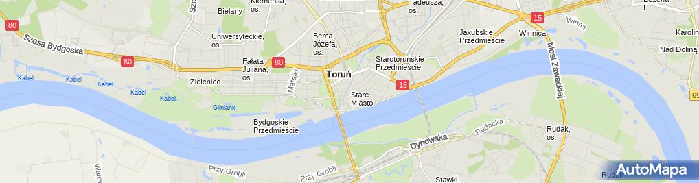 Zdjęcie satelitarne Torun Pomnik Wilhelma I - rozbiorka