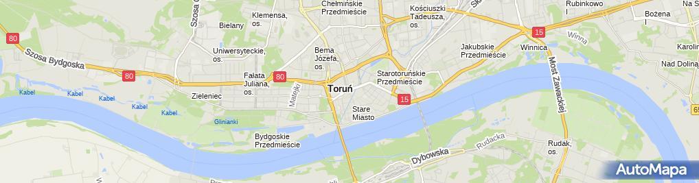 Zdjęcie satelitarne Torun twin cities