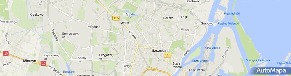 Zdjęcie satelitarne Uniwersytet Szczecinski Wydzial Nauk Ekonomicznych i Zarzadzania