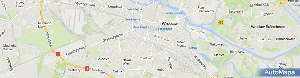 Zdjęcie satelitarne Wroclaw ulPilsudskiego gmach NOT