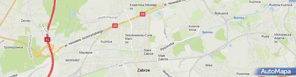Zdjęcie satelitarne Zabrze Curie-Skłodowskiej 24 03 2010 P3248501