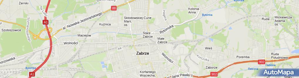 Zdjęcie satelitarne Zabrze - Pl. Wolności 01