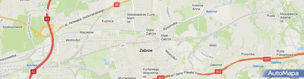 Zdjęcie satelitarne Zabrze - Plac Dworcowy 01