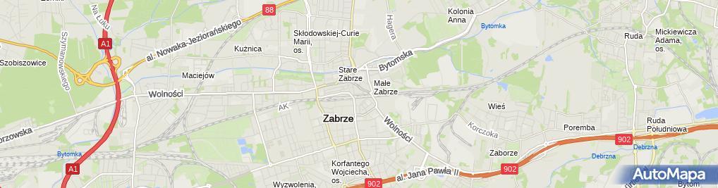 Zdjęcie satelitarne Zabrze post office