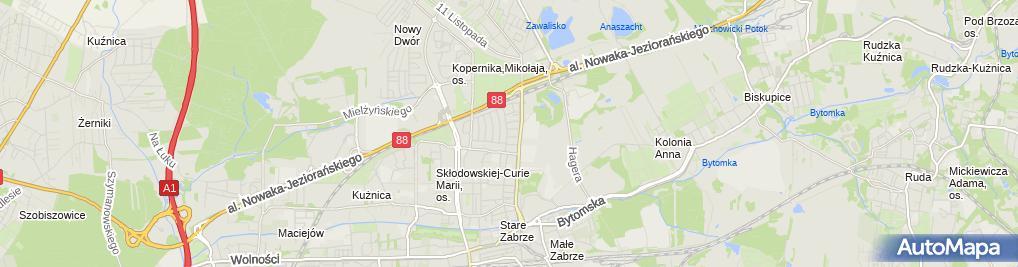 Zdjęcie satelitarne Zabrze Poznańska 21 24 03 2010 P3248530