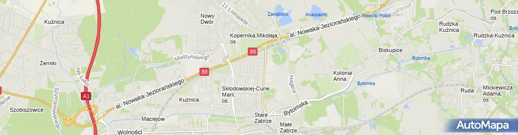 Zdjęcie satelitarne Zabrze Poznańska 23 24 03 2010 P3248532